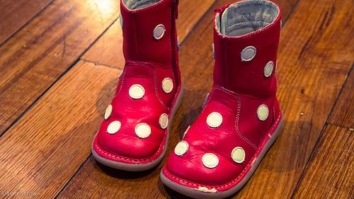 Chice rote Mädchen-Kinderschuhe aus Leder