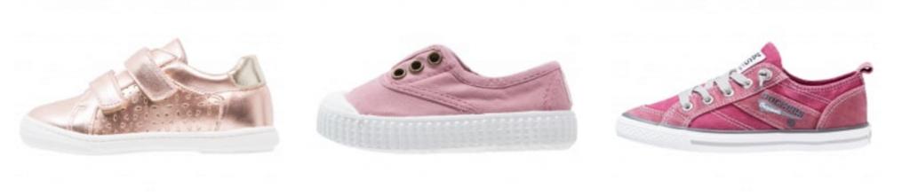 Mädchen-Halbschuhe für den Frühling in rosa, gold und pink