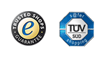 """Gute Online-Shops garantieren euch Sicherheit bei der Bestellung. Achtet auf die Siegel von """"Trusted Shops"""" und TÜV."""